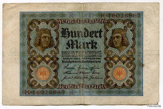 Германия 100 МАРОК 1920г.  распродажа 3