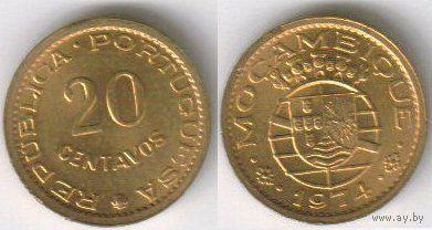 Мозамбик (Португальский) 20 центов (1974, UNC)
