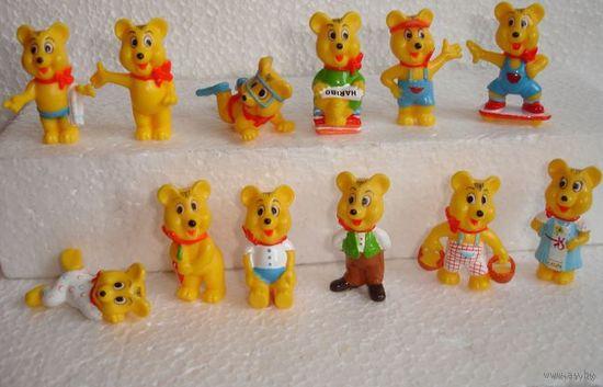 Киндер мишки Серия Haribo 12 шт полная серия шт из личной коллекции