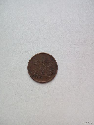5 грош 1990г.Польша (1)