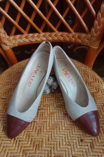 Красивые Туфли Италия винтаж всё натуральная кожа + текстиль марк 39