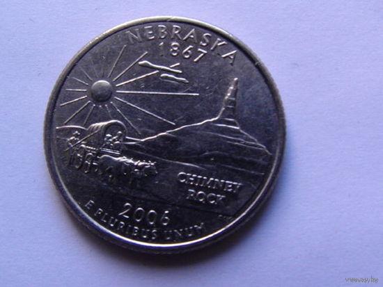 США 25 центов 2006г  NEBRASKA  распродажа