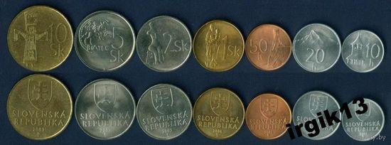Словакия набор 7 монет 1999-2007