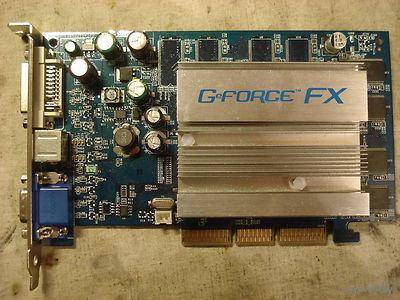 AGP Видеокарта NVidea GeForce FX5200EP 128мБ
