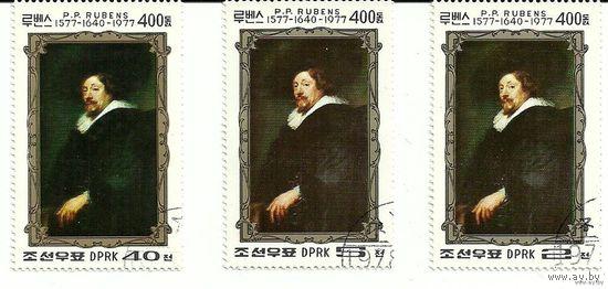 Живопись. 400 лет со дня рождения Рубенса. КНДР 1978 г. (Корея)