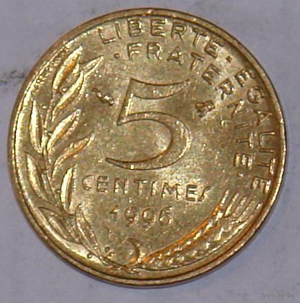 Франция 5 сантимов 1996г. распродажа