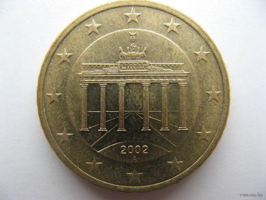 Германия 50 евроцентов 2002г. (A)