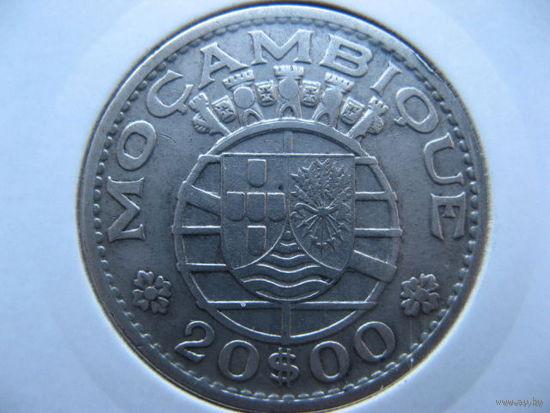 Мозамбик Португальский 20 эскудо 1960 г. серебро
