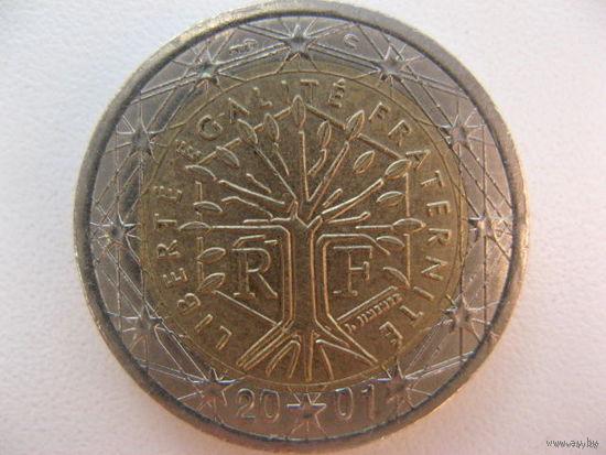 Франция 2 евро 2001г.   Распродажа!!!