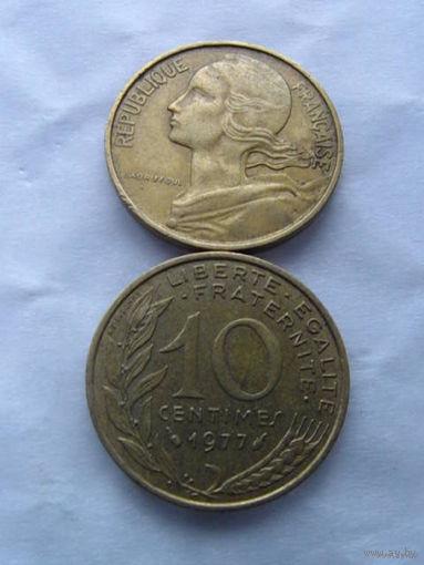 Франция 10 сантимов 1977г. распродажа