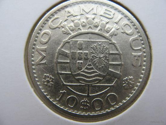 Мозамбик Португальский 10 эскудо 1952 г. серебро