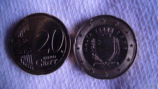 Мальта 20 евроцентов 2008г. распродажа