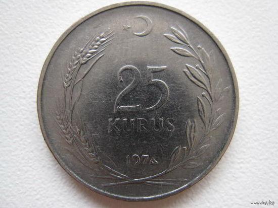 25 куруш 1974 Турция    KM# 892.3