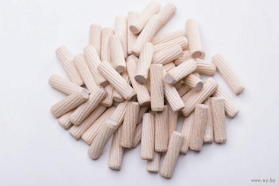 Деревянный мебельный шип (дюбель, шкант, штифт) M8 x 30mm Упаковка-200 штук
