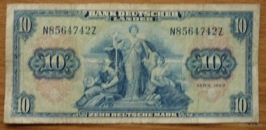 ГЕРМАНИЯ. 10 марок 1949г.