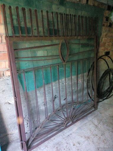 Ворота металлические въездные б/у