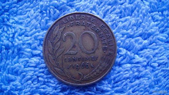 Франция 20 сантимов 1966 г. распродажа