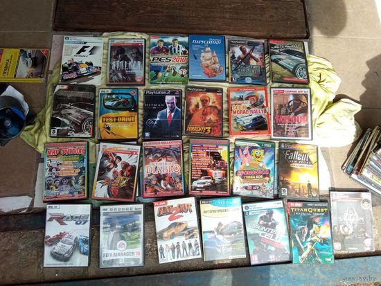 Диски игровые больше 60 штук, Sony Playstation 2 и для компьютера, Мега лот, распродажа с рубля
