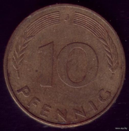 10 пфеннигов 1979 год ФРГ J
