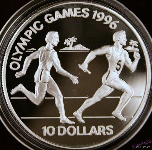 10 долларов 1994 год, Соломоновы о-ва Эстафета Ag