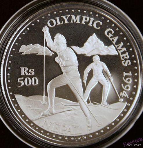 500 рупий 1994 год, Непал Олимпиада 1994, Серебро