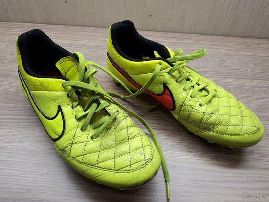 Оригинальные бутсы Nike Tiempo, кожа