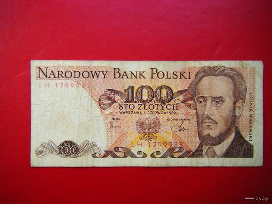 100 злотых 1982г.