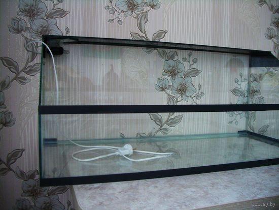 Аквариум для черепахи с подсветкой 80 литров. Черепашатник. Новый.