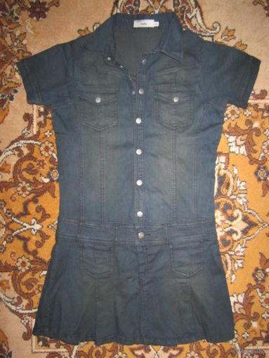 Платье джинсовое, р.38 (44)