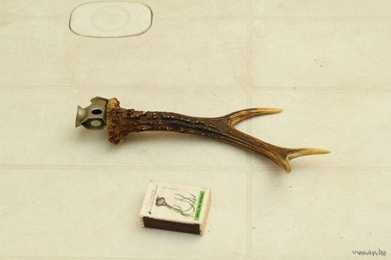 Щипчики для обрезки кончика сигары, Германия (натуральный рог косули )