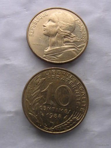 Франция 10 сантимов 1988г. распродажа