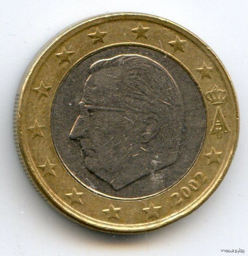 Бельгия 1 евро 2002 БИМЕТАЛЛ   распродажа