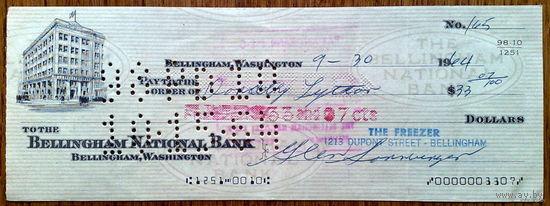 USA чек на 33,07$ 1944г