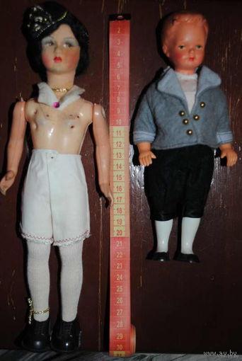 Две старинные и винтажные, коллекционные КУКЛЫ:_1920-1940_Зап.Европа_/Как на фото/_Внимание:_цена указанна за обе куклы сразу_!