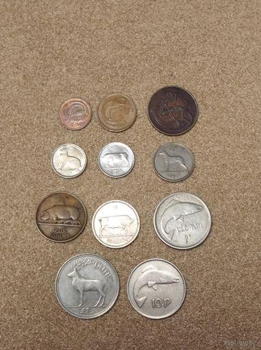 Ирландия набор 11 монет