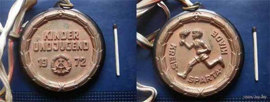Медаль ГДР детско-юношеская спартакиада 1972 г.