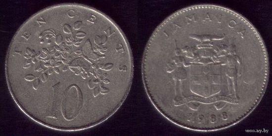 10 центов 1988 год Ямайка