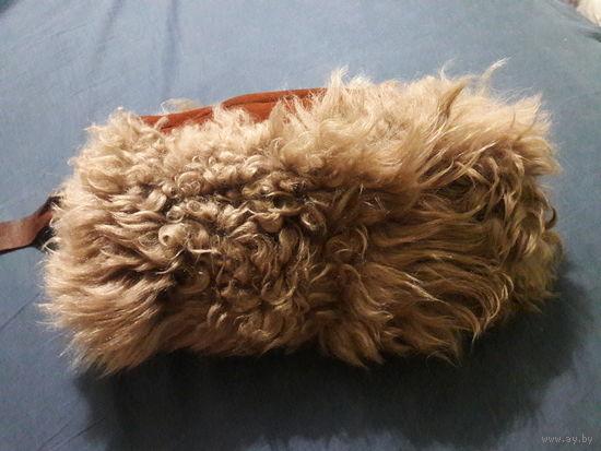 Монгольская шапка дарханка.Верблюжья шерсть
