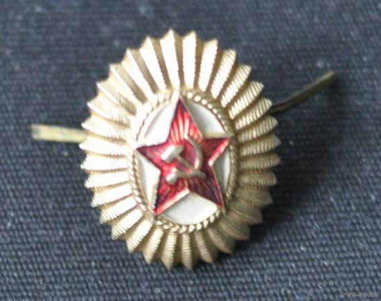 Кокарда на повседневную фуражку офицера СССР