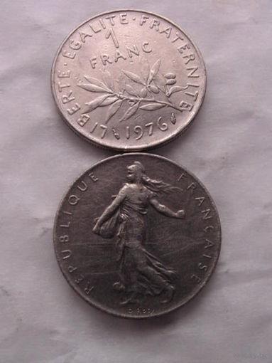 1 франк франции 1976г.  распродажа