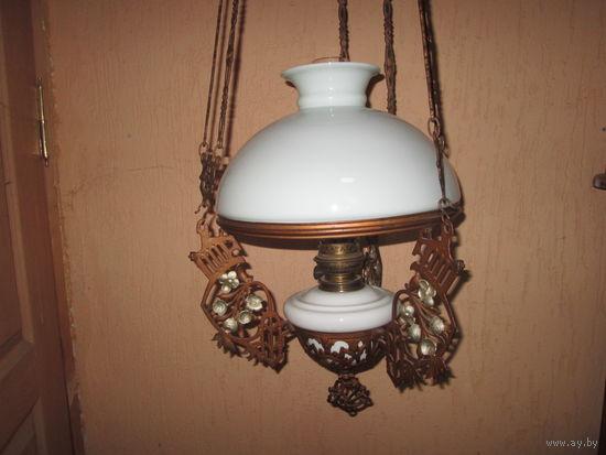 Лампа люстра керосиновая потолочная Kosmos Brenner длина 125-150 см