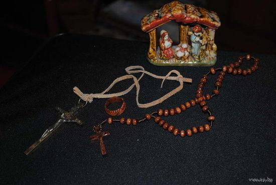 Лот культовых сувениров, или религиозных предметов произ.Италия из Рима-!
