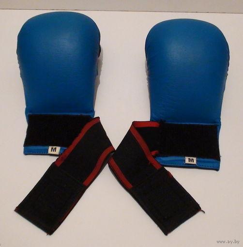 "W: Перчатки KWON синие для единоборств (каратэ), накладки, размер ""М"""