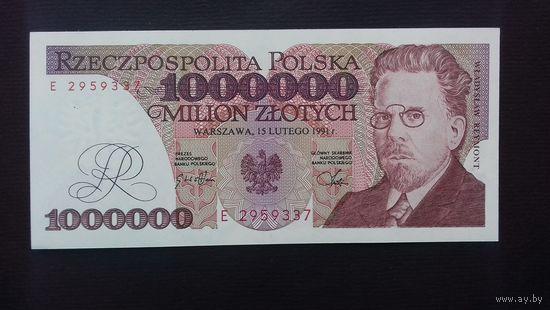 1000000 злотых 1991 года. Польша. UNC. Распродажа.