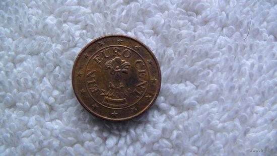 Австрия 1 евроцент 2005г.   распродажа