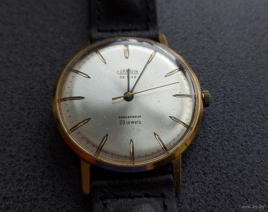 СССР, часы экспортные Cornavin de luxe. Au 12,5+. Прекрасный экземпляр для носки и в коллекцию. Без М.Ц.