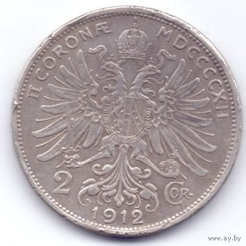 Австро-Венгрия, 2 кроны 1912 года. Франц Иосиф 1912 года.