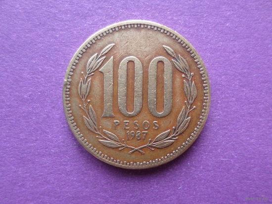 Чили, 100 песо 1987г.  распродажа