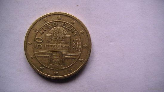 Австрия 50 центов 2002г.  распродажа