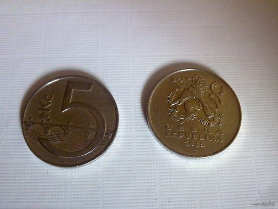 5 Крон Чехия 1993г.  распродажа